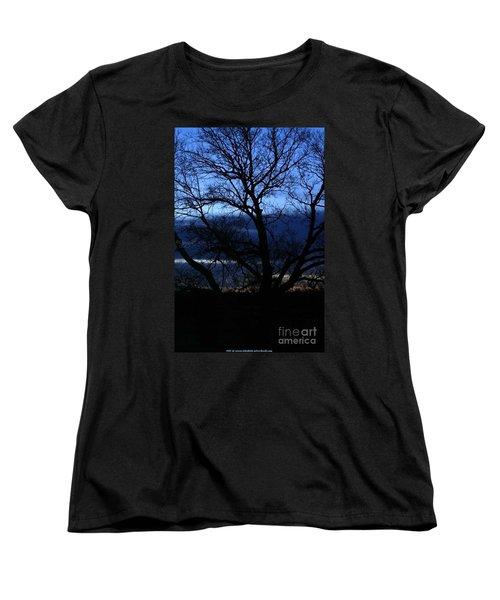 Blue Moon Sunrise Women's T-Shirt (Standard Cut)