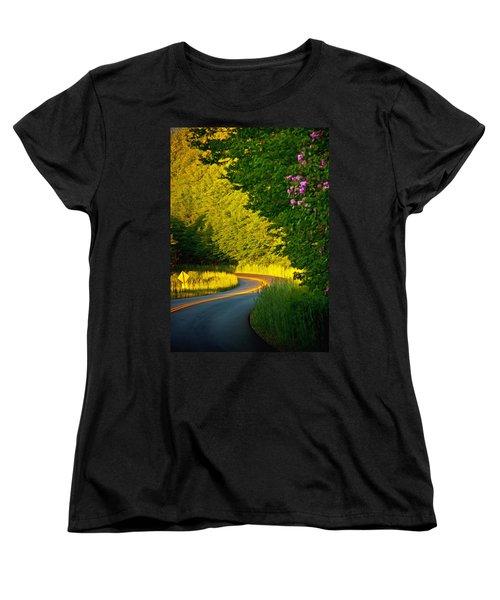 Women's T-Shirt (Standard Cut) featuring the photograph Blue Ridge Afternoon by John Haldane
