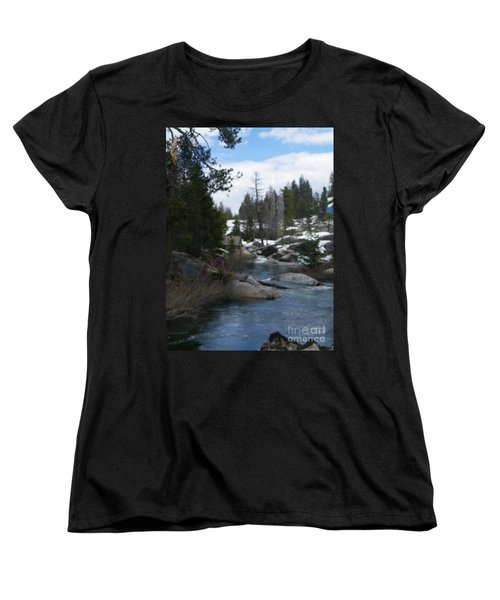 Women's T-Shirt (Standard Cut) featuring the photograph Blue Skies Of Winter by Bobbee Rickard
