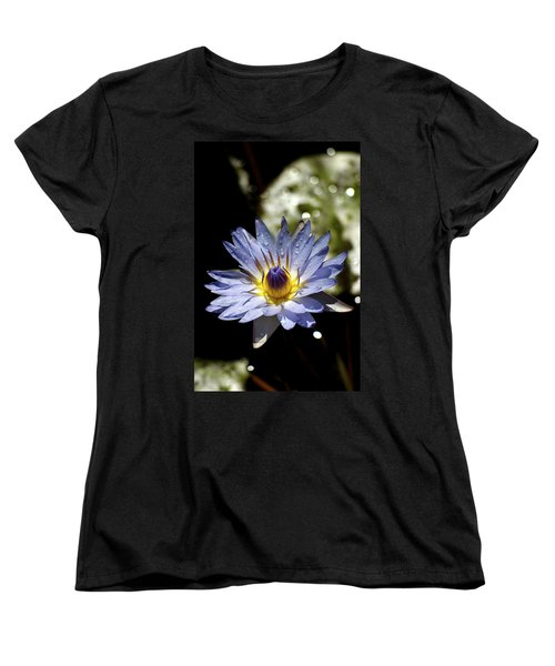 Waterlily After The Rain ... Women's T-Shirt (Standard Cut) by Lehua Pekelo-Stearns