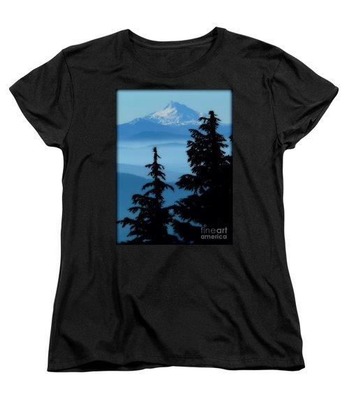 Blue Yonder Mountain Women's T-Shirt (Standard Cut) by Susan Garren