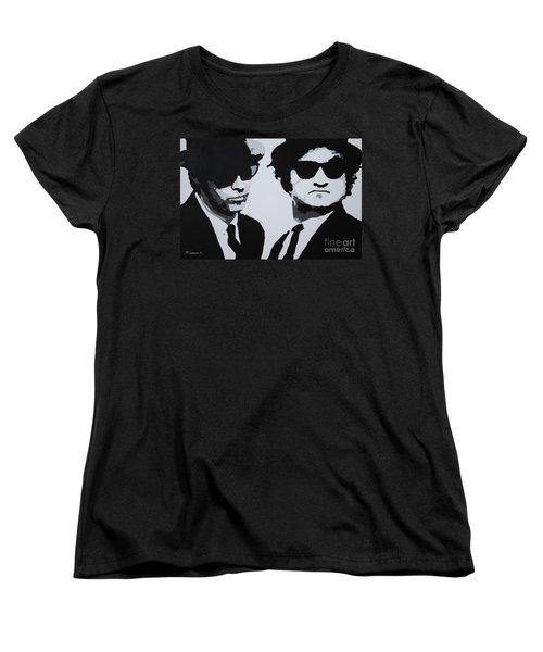 Blues Brothers Women's T-Shirt (Standard Cut) by Katharina Filus