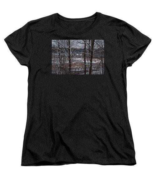 Women's T-Shirt (Standard Cut) featuring the photograph Boardwalk Series No3 by Bianca Nadeau