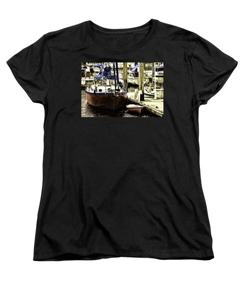 Boat Women's T-Shirt (Standard Cut) by Muhie Kanawati