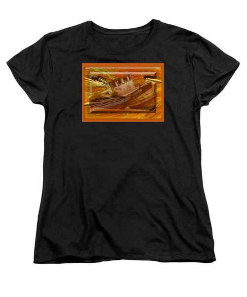 Women's T-Shirt (Standard Cut) featuring the photograph Boat On Board by Larry Bishop