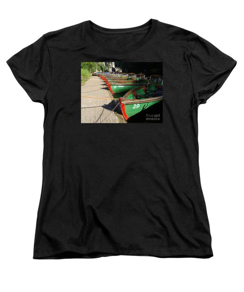 Women's T-Shirt (Standard Cut) featuring the photograph Boats Waiting For Kids by Doc Braham