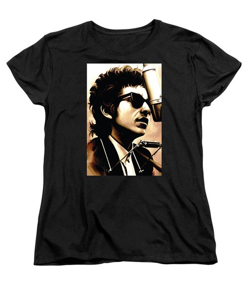 Bob Dylan Artwork 3 Women's T-Shirt (Standard Cut) by Sheraz A