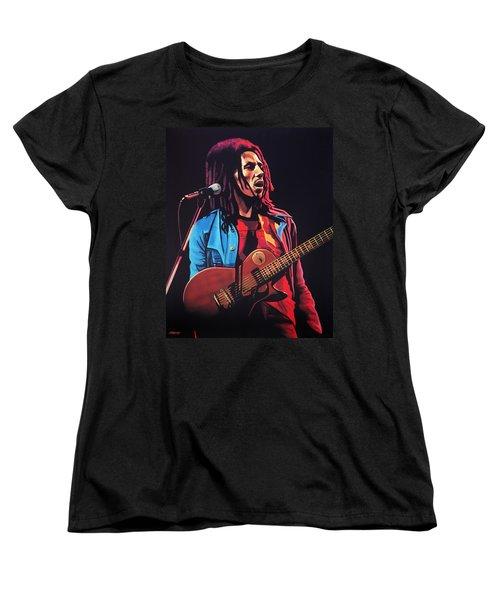 Bob Marley 2 Women's T-Shirt (Standard Cut) by Paul Meijering