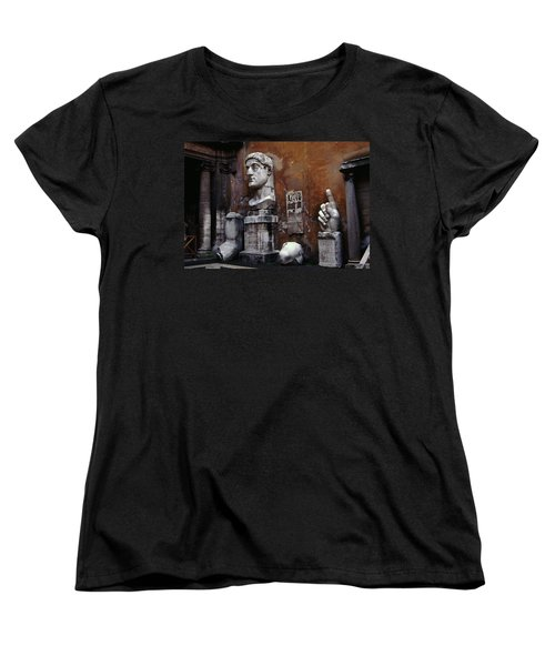 Women's T-Shirt (Standard Cut) featuring the photograph Body Parts The Colossus Of Constantine Rome by Tom Wurl