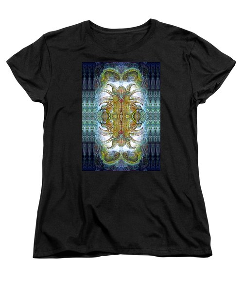 Women's T-Shirt (Standard Cut) featuring the digital art Bogomil Variation 14 - Otto Rapp And Michael Wolik by Otto Rapp