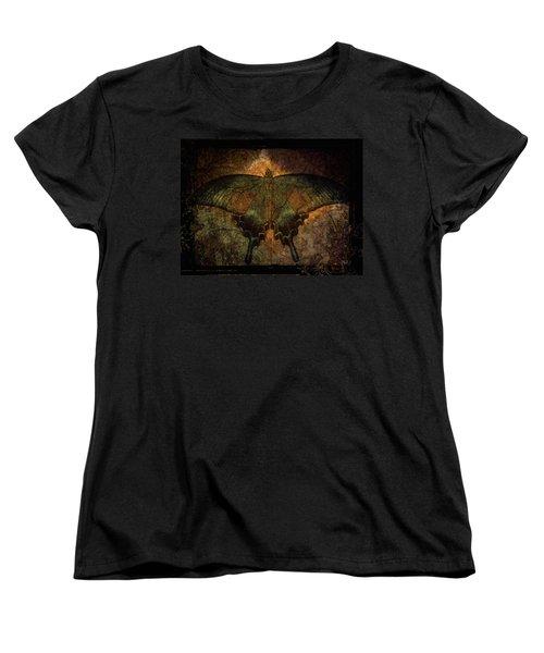 Bohemia Butterfly - Art Nouveau Women's T-Shirt (Standard Cut) by Absinthe Art By Michelle LeAnn Scott