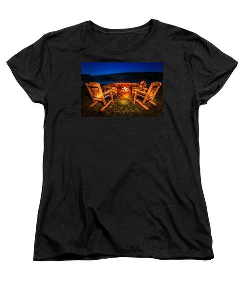Bonfire Women's T-Shirt (Standard Cut) by Alexey Stiop