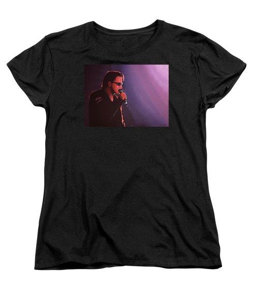 Bono U2 Women's T-Shirt (Standard Cut) by Paul Meijering