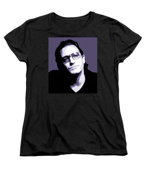 Bono Portrait Women's T-Shirt (Standard Cut) by Dan Sproul