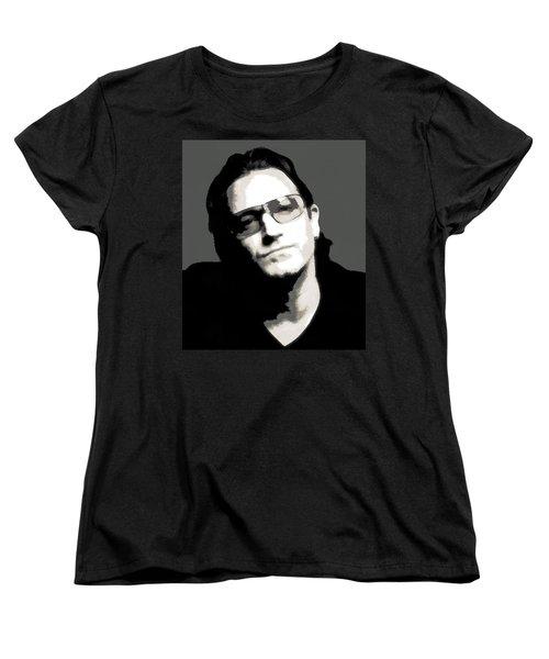 Bono Poster Women's T-Shirt (Standard Cut) by Dan Sproul