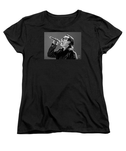 Bono U2 Women's T-Shirt (Standard Cut) by Meijering Manupix