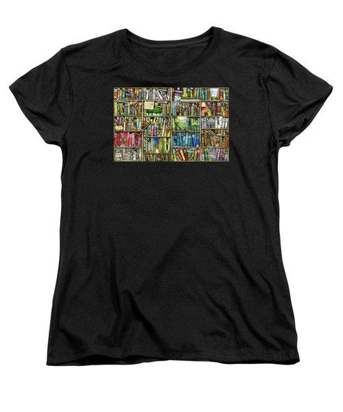 Bookshelf Women's T-Shirt (Standard Cut) by Colin Thompson