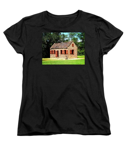 Women's T-Shirt (Standard Cut) featuring the photograph Boone Hall Plantation Slave Quarters by Greg Simmons