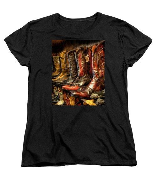 Boot Rack Women's T-Shirt (Standard Cut) by Michael Pickett
