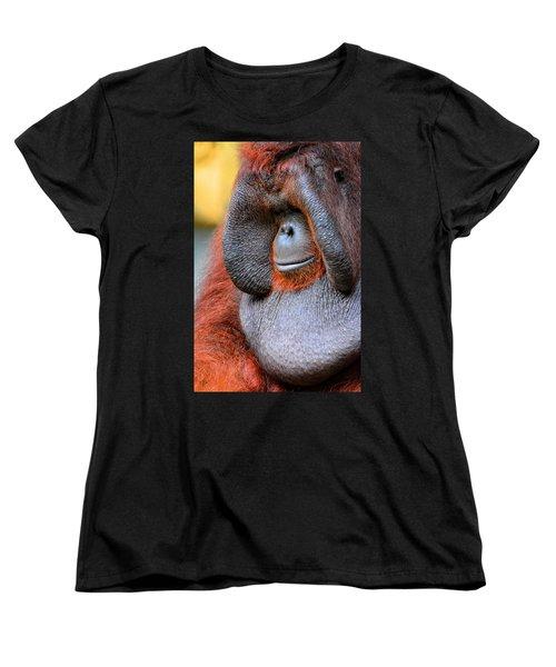 Bornean Orangutan Vi Women's T-Shirt (Standard Cut) by Lourry Legarde