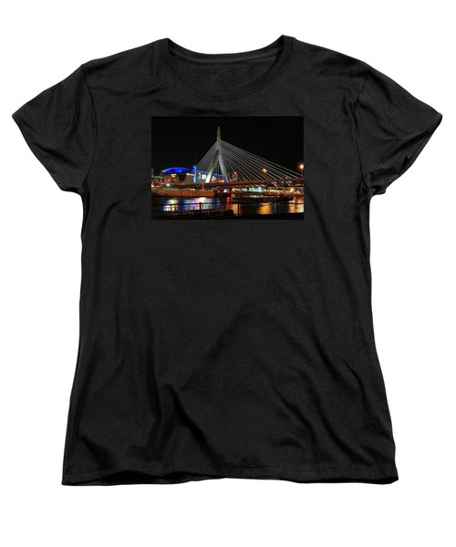 Boston's Zakim-bunker Hill Bridge Women's T-Shirt (Standard Cut) by Mitchell R Grosky