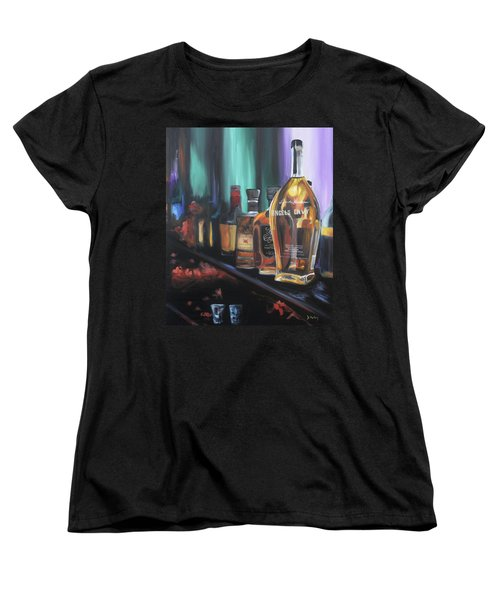 Bourbon Bar Oil Painting Women's T-Shirt (Standard Cut)