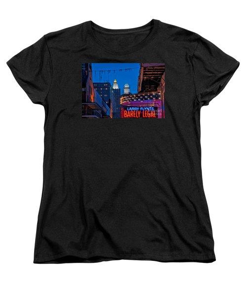 Bourbon Street And Cbd Lights  Women's T-Shirt (Standard Cut) by Kathleen K Parker
