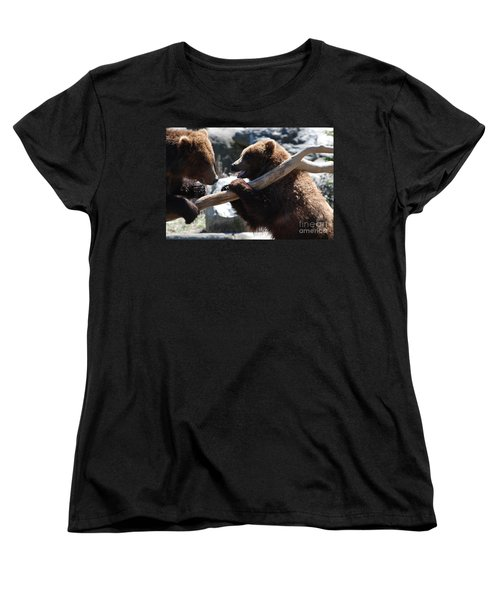 Brawling Bears Women's T-Shirt (Standard Cut) by DejaVu Designs