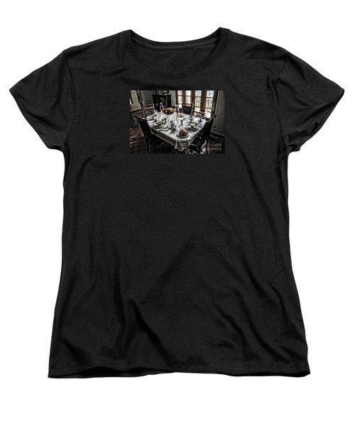 Downton Abbey Breakfast Women's T-Shirt (Standard Cut) by The Art of Alice Terrill