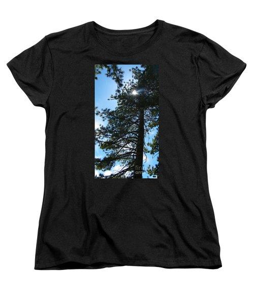 Women's T-Shirt (Standard Cut) featuring the photograph Breakthrough by Bobbee Rickard
