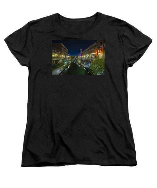Bricktown Canal Women's T-Shirt (Standard Cut) by Jonathan Davison
