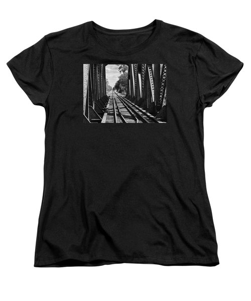 Bridge In Black And White Women's T-Shirt (Standard Cut)