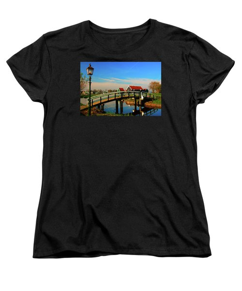 Bridge Over Calm Waters Women's T-Shirt (Standard Cut) by Jonah  Anderson