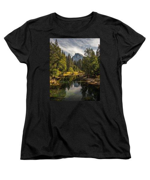 Bridge View Half Dome Women's T-Shirt (Standard Cut) by Peter Tellone