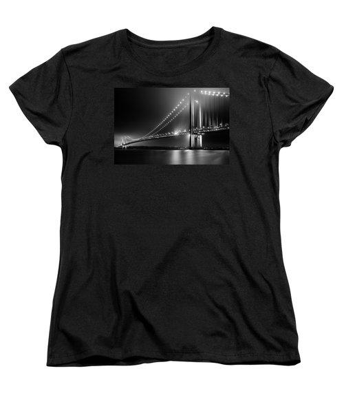 Bridging Verrazano Narrows Women's T-Shirt (Standard Cut) by Mihai Andritoiu