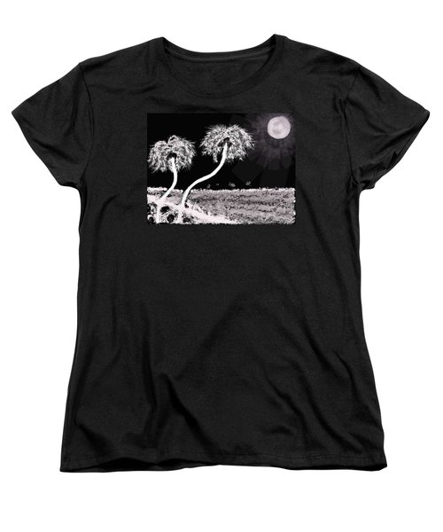 Bright Night In The Tropics Women's T-Shirt (Standard Cut) by Renee Michelle Wenker