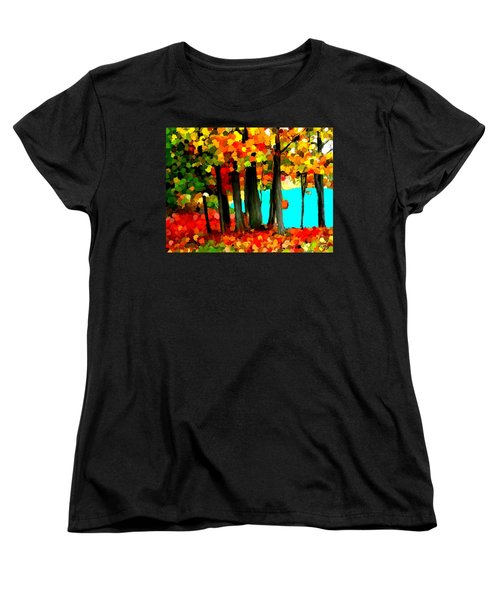 Brightness In The Forest Women's T-Shirt (Standard Cut) by Bruce Nutting