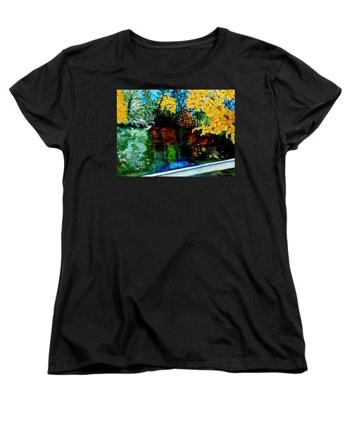Brilliant Mountain Colors In Reflection Women's T-Shirt (Standard Cut) by Lil Taylor
