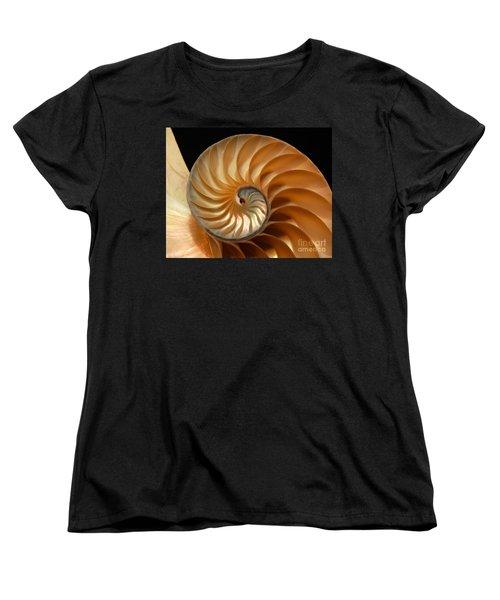 Brilliant Nautilus Women's T-Shirt (Standard Cut) by Phil Cardamone
