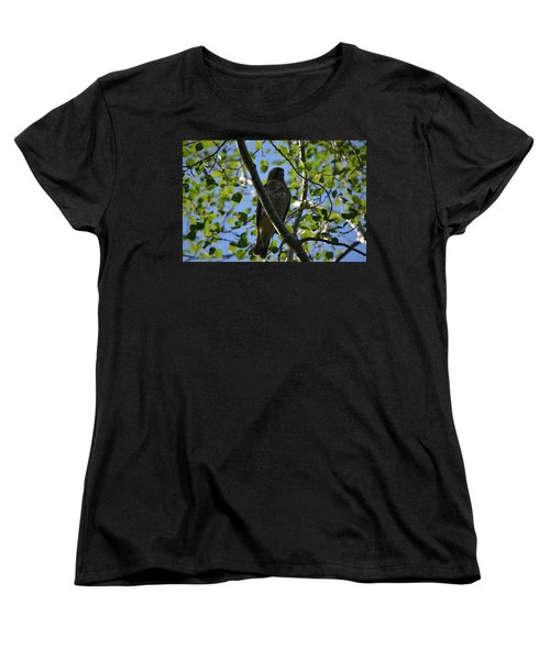 Women's T-Shirt (Standard Cut) featuring the photograph Broad-winged Hawk by James Petersen