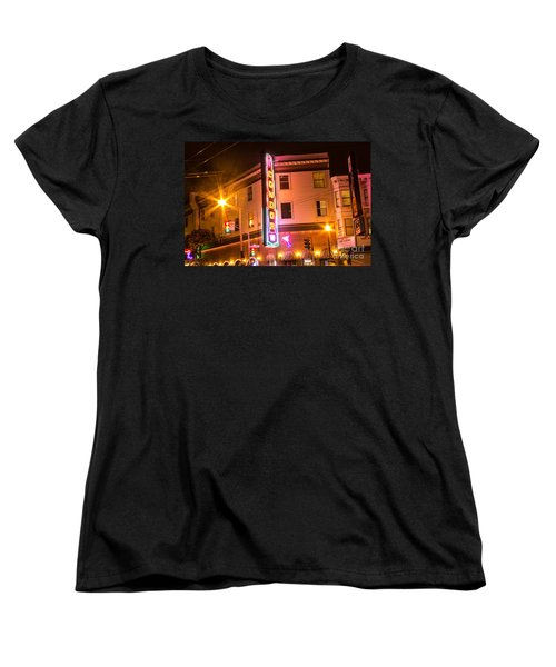 Women's T-Shirt (Standard Cut) featuring the photograph Broadway At Night by Suzanne Luft