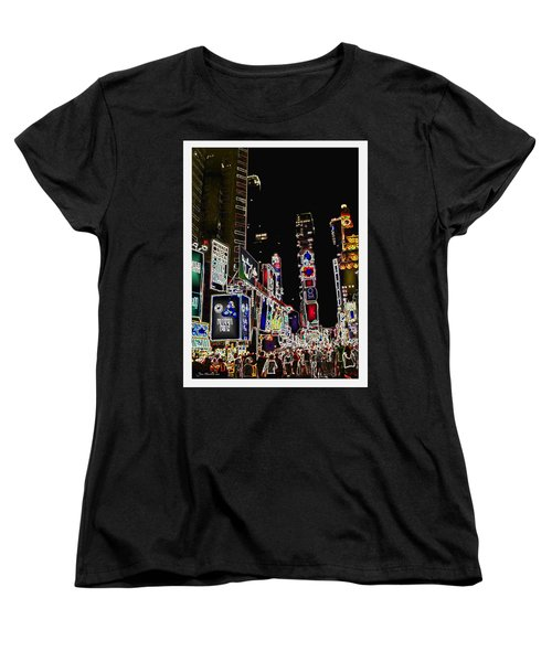 Broadway Women's T-Shirt (Standard Cut) by Joan  Minchak