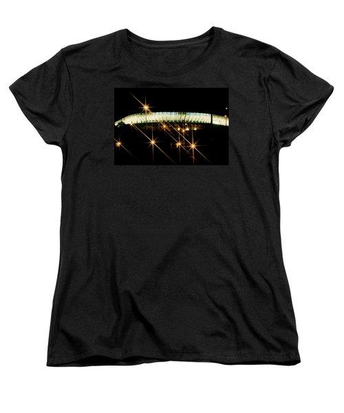Women's T-Shirt (Standard Cut) featuring the photograph Bronx Night  Iv Yankee Stadium by Iconic Images Art Gallery David Pucciarelli