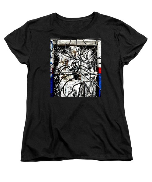 Broome Street Found Art Nyc Women's T-Shirt (Standard Cut) by Steve Archbold