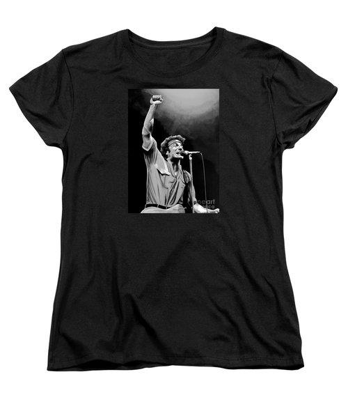 Bruce Springsteen Women's T-Shirt (Standard Cut) by Meijering Manupix