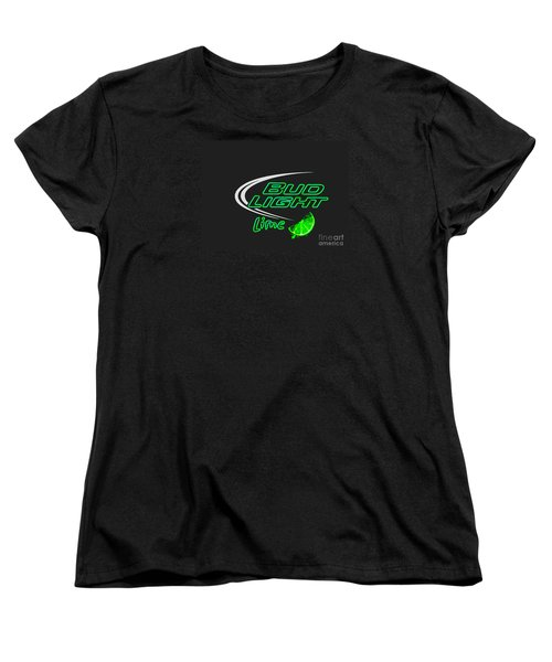 Bud Light Lime 2 Women's T-Shirt (Standard Cut) by Kelly Awad