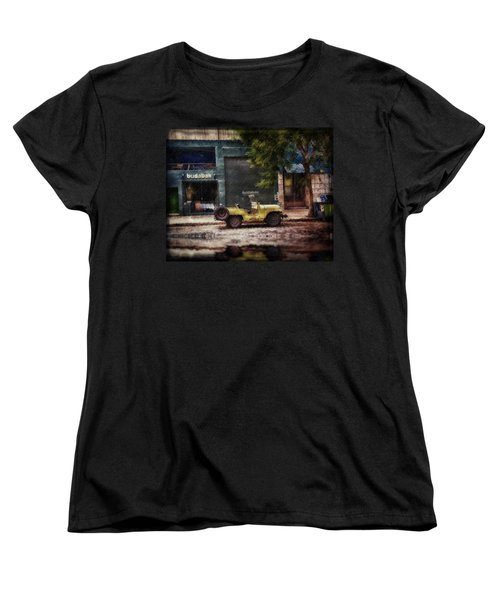 Buenos Aires Jeep Under The Rain Women's T-Shirt (Standard Cut) by Diane Dugas