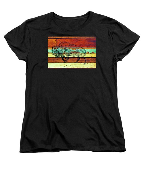 Women's T-Shirt (Standard Cut) featuring the drawing The Great Gift by Larry Campbell