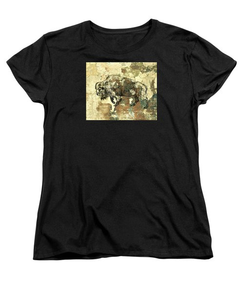 Women's T-Shirt (Standard Cut) featuring the photograph Buffalo 7 by Larry Campbell