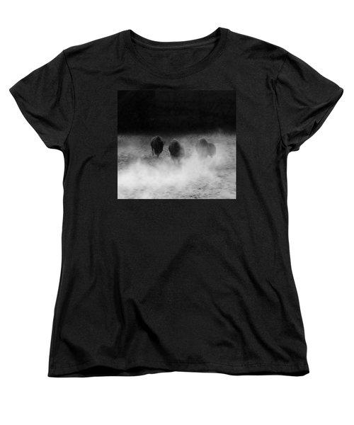 Buffalo Women's T-Shirt (Standard Cut) by Janice Spivey